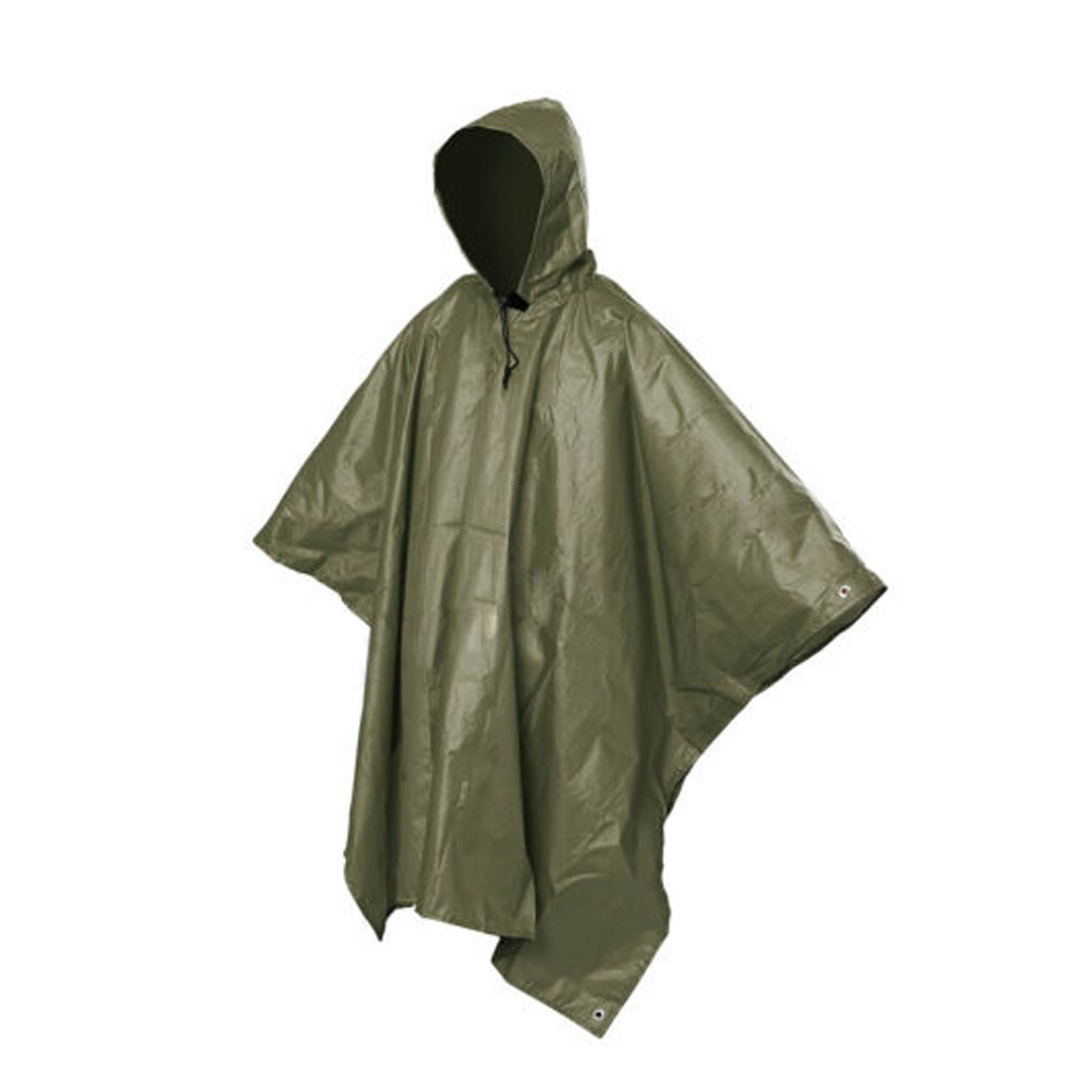 Multifunctional One-Piece Rain Coat Poncho Cape Tarp For Camping Hiking