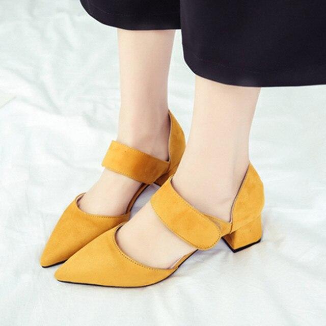 Chaussures automne jaunes femme SQUtEmUCZ