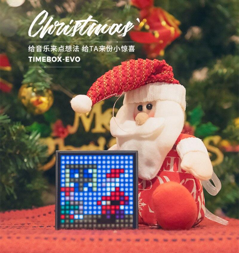 Nieuwe Divoom TIMEBOX EVO Bluetooth Draadloze Speaker Pixel Smart multifunctionele Audio wekker voice memo Ondersteuning APP gift