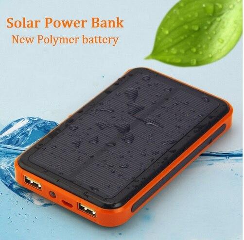 Dual USB Mobile Phone Solar Replacement <font><b>Battery</b></font> <font><b>30000</b></font> mAh Waterproof External Power Supply Solar Panels