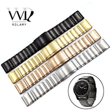 Rolamy 20 22 26mm 316L Stainless Steel Easy Quick Install Replacement Watch Bands Bracelets Straps For Garmin Fenix 3/5/5X/5S
