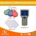 Idioma inglês Escritor Leitor RFID Copiadora Duplicadora Para IC/Cartão de IDENTIFICAÇÃO 125 Khz 13.56 Mhz Frequência 10 + 20 pcs Etiquetas RFID