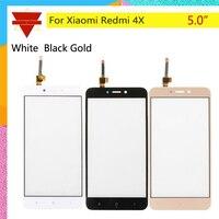10pcs\lot Original Redmi 4X Front Panel For Xiaomi Redmi 4X Redmi4X Touch Screen Sensor LCD Display Digitizer Front Outer Glass