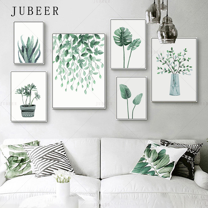 Nordic Style Tropical Plant Poster And Prints Leaves