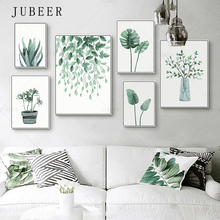 Nordic Style Tropical Plant Poster and Prints Leaves Canvas Wall Posters Cactus Potted Decoration Picture Modern Home Decor