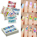 50 Sheets Watermark Stickers Temporary Tattoos DIY Nail Art Tips Manicure Decals KIJ