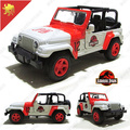 Candice guo Super cool 1:32 mini sport jeep alloy model car toy birthday gift creative Jurassic Park acousto-optic pull back 1pc