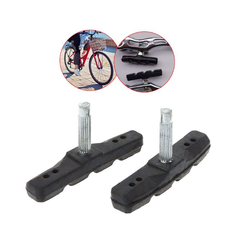 2pcs 65mm Brake Pads Silent Rubber V Brake System Bike Parts Bicycle Cycling Safety Blocks MTB Mountain Bike Accessories