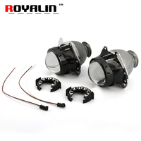 ROYALIN HID Bi Xenon Lens 2 5 Inch For Stanley FXR Projector Headlight For Honda Auto