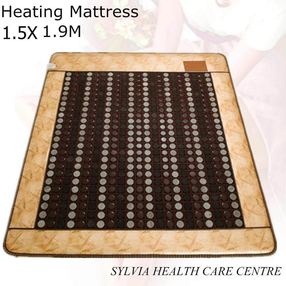 2017 NEW product tourmaline mat Physical therapy mat hemorrhoids health care heating jade sleeping cushion 1.5X1.9M/ 59''X74.8'' best selling korea natural jade heated cushion tourmaline health care germanium electric heating cushion physical therapy mat