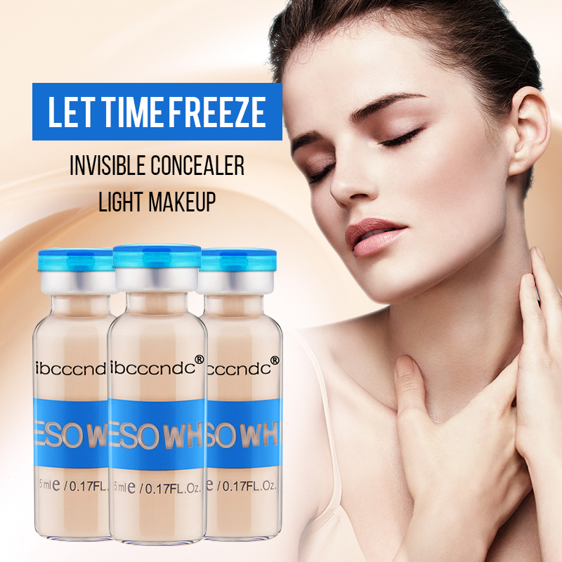 10pcs/set Korean Makeup Glow Skin Meso Cream White Brightening Serum Natural Skin Whitening Concealer Make Up Remnant Foundation