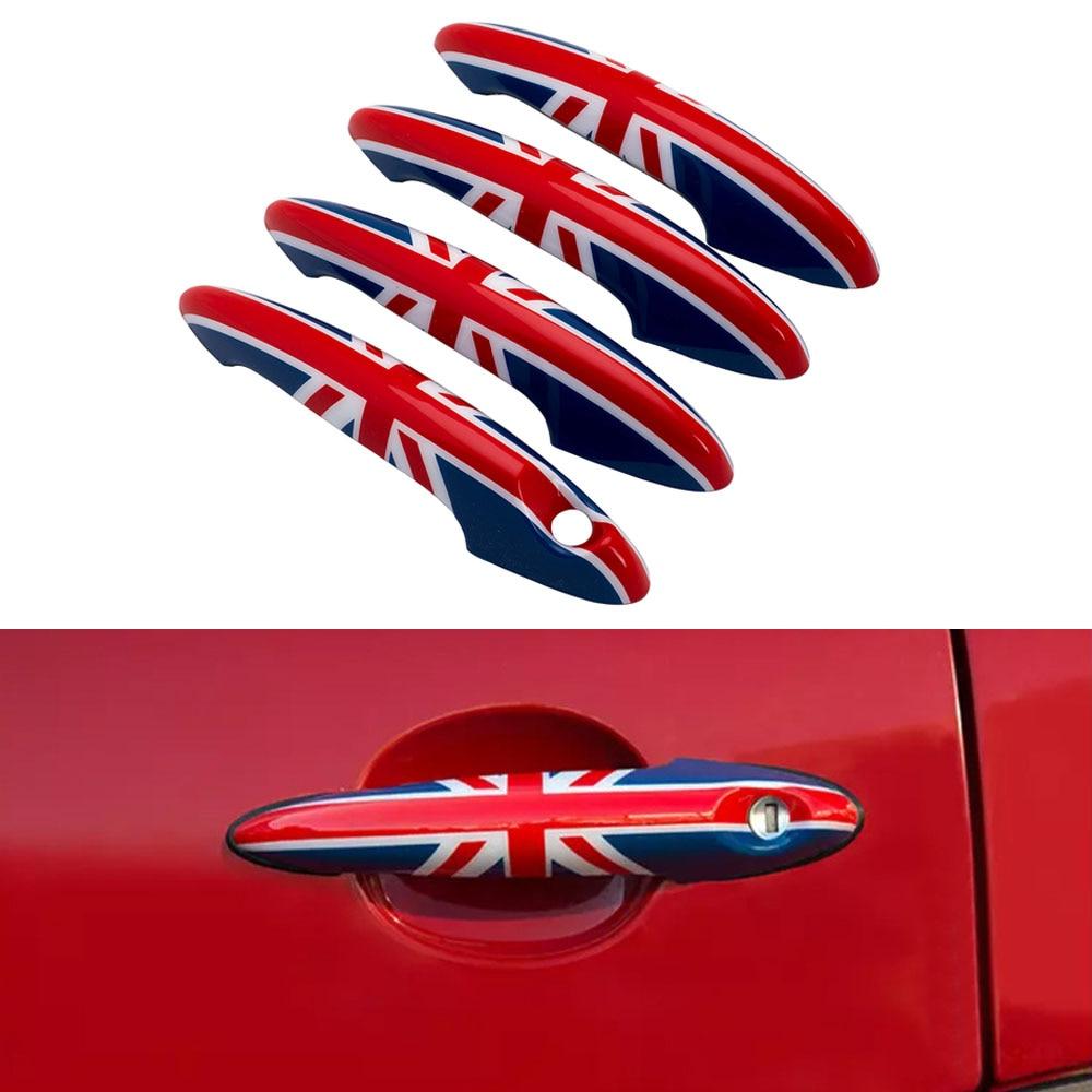 4Pcs set Union Jack Door Handle Doorknob Cover Decoration Sticker For Bmw Mini Cooper JCW Countryman