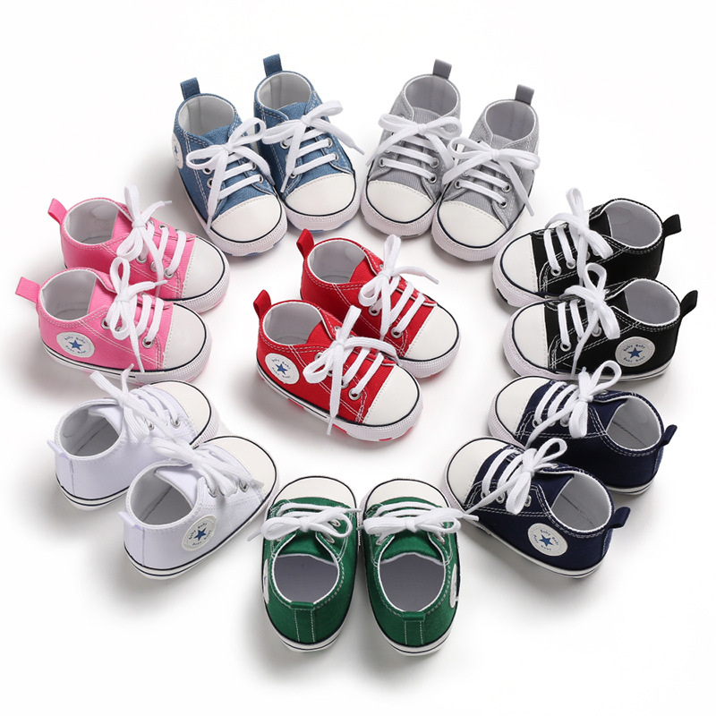 Hot Sale Models Multicolor Infant Baby Shoes Baby Canvas Shoes Baby Toddler Shoes GDD1901