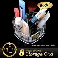 Acrylic Makeup Organizer Drawer Makeup 8 Grids Lipstick Display Rack Box Cabinet Case Cosmetic Organizer EQC348
