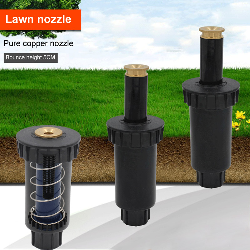 Automatic Expansion 90 180 360 Degree Garden Spray Nozzle Pop Up Plastic Lawn Sprinklers Adjustable 1 Pcs 1/2