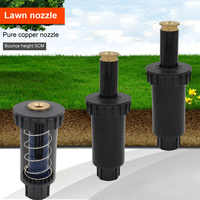 """Automatic Expansion 90 180 360 Degree Garden Spray Nozzle Pop up Plastic Lawn Sprinklers Adjustable 1 Pcs 1/2"""" Female Thread"""