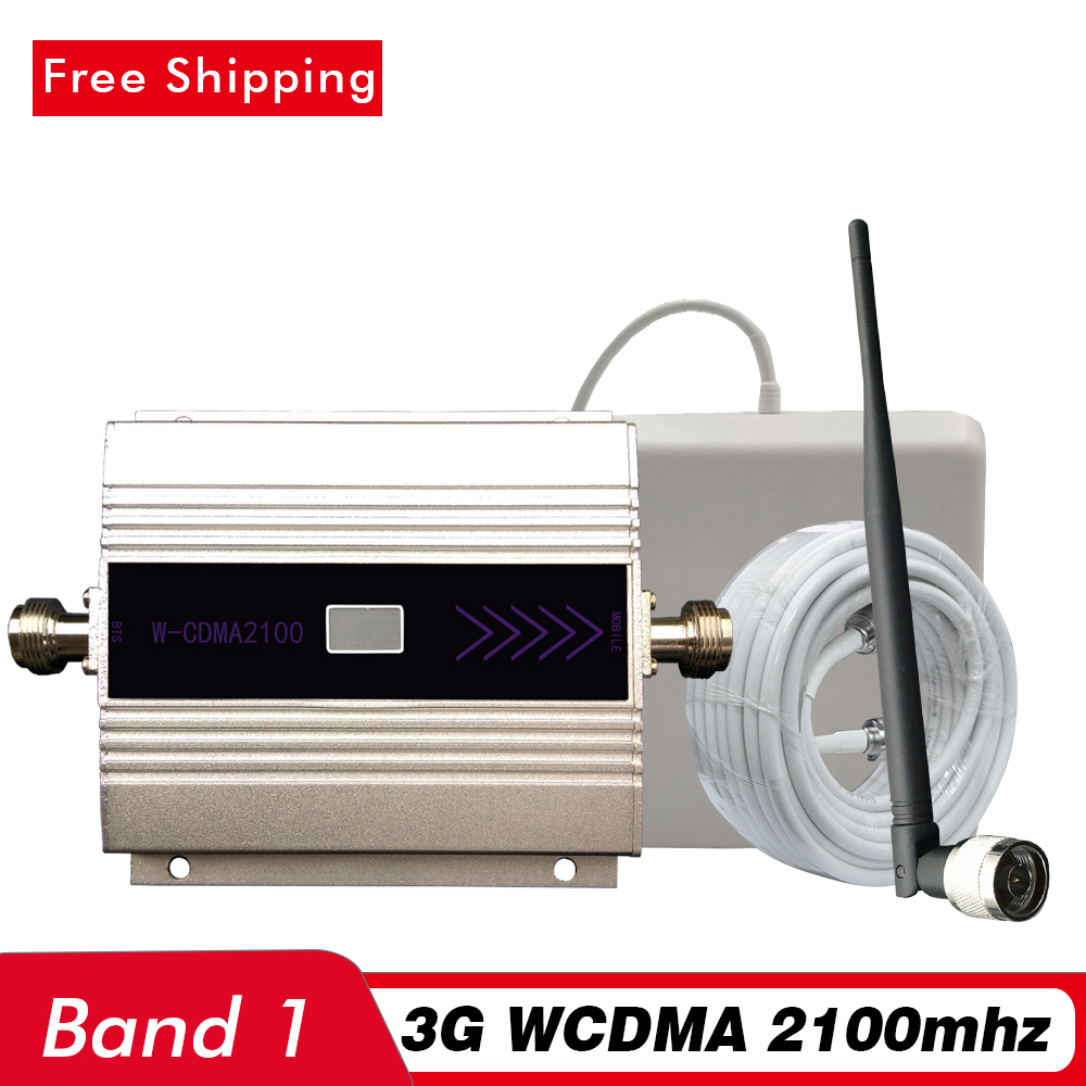60dB LCD Display 3G Signal Booster UMTS WCDMA 2100mhz LTE Band 1 Mobile Signal Repeater 3G