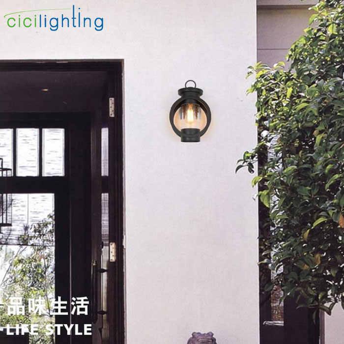 ضوء واحد ، الخارجي LED مصباح للحائط ، ماتي الأسود في الهواء الطلق داخلي الجدار الشمعدان ، 4 واط خيوط اديسون وحدة إضاءة LED جداريّة جبل الشمعدان الشرفة مصباح