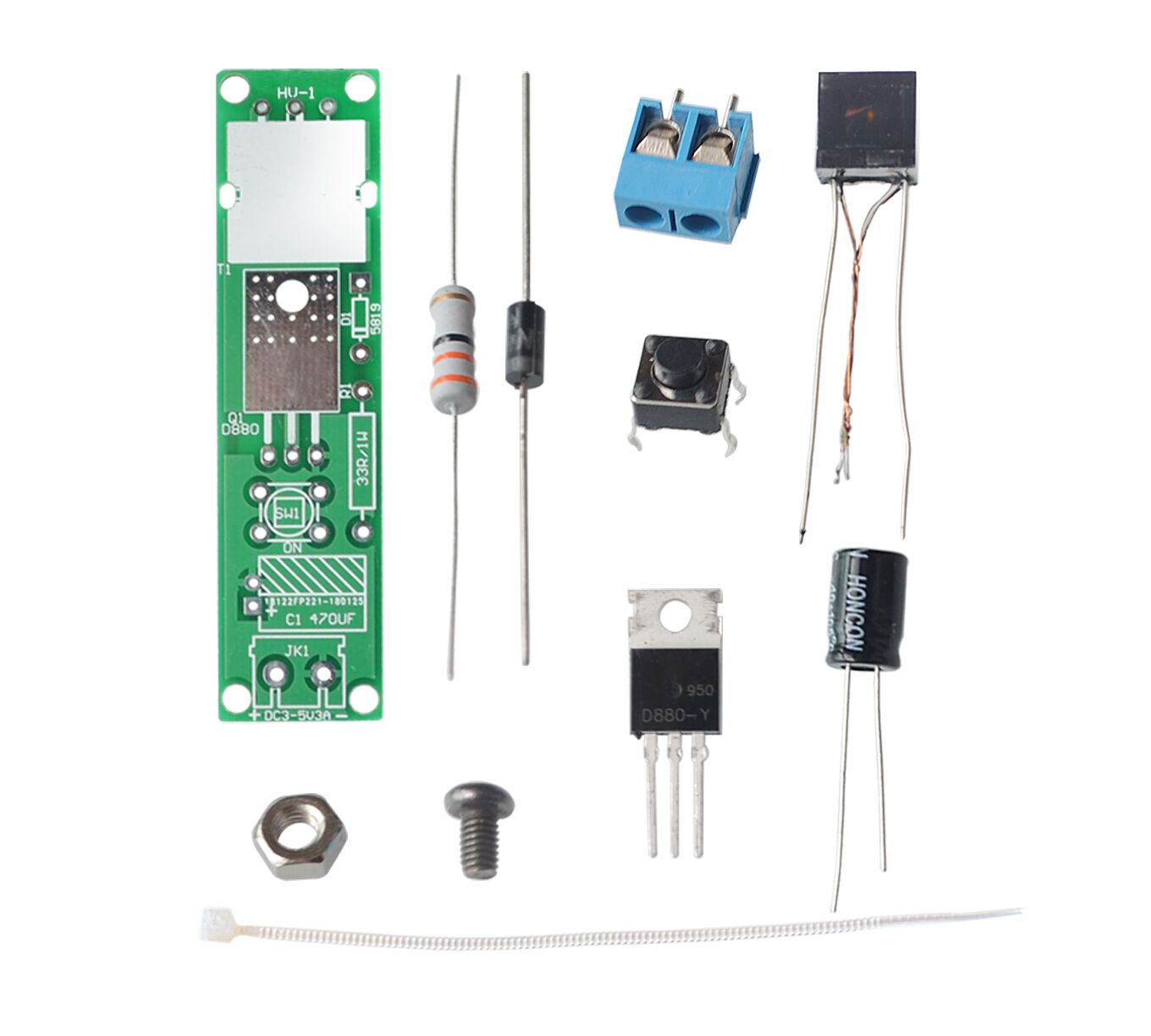 HV 1 High Voltage Igniter DIY Kit Arc Ignition Parts DIY Kit Arc Generator Arc Cigarette Igniter Module PCB Board DC 3V 5V 3A-in Integrated Circuits from Electronic Components & Supplies