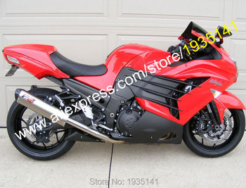 Body Kit For Kawasaki ZX14R 2012 2013 2014 2015 ZZR1400 ZX-14R Red Black Sportbike Fairing Kit (Injection molding)