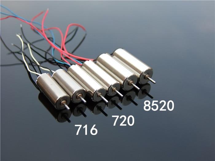 8.5*20mm DC3.7V 6V 50000RPM High Speed Magnetic Mini Coreless Motor DIY RC Drone