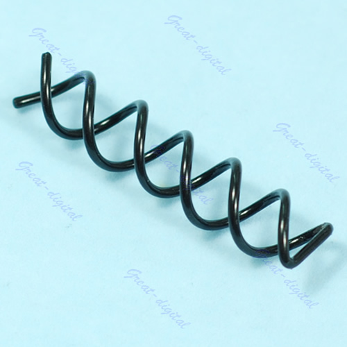 10pcs/lot Spiral Spin Screw Pin Hair Bun Coil Clip Barrette Clip Stick Comb Black