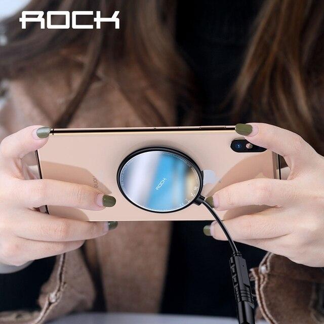 רוק עכביש יניקה כוס אלחוטי מטען עבור iPhone X Xr XS מקס מיני 10W מהיר טעינה אלחוטי Pad עבור סמסונג הערה 8 9 S9 + S8