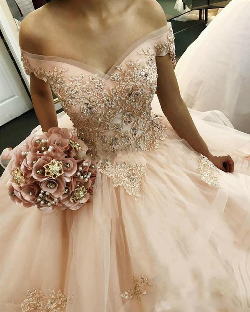 f26463c71 2019 New Listing Scoop Neck Ball Gowns Dress For 15 Years Beautiful Peach  Quinceanera Dresses Sweet