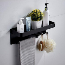 High Quality Aluminum Black Bathroom Shelf Bathroom Shelves Rack Organizer Double Tier Wall Mounted Shelf Bath Organizer samsung clear view для samsung galaxy s7 edge black