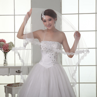 2017 New Wedding Veil Solid Color Bride Wedding Dress Soft Yarn 3 Meters Long Trailing Wedding