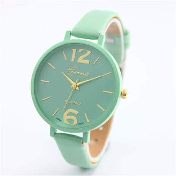 Faux Leather Analog Quartz Wrist Watch