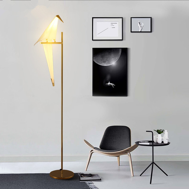 Modern Nordic Bird Paper Cranes Floor Lamp For Bedroom Living Room Standing  Lamp Light Fixture Sofa Part 26