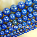 "15.5"" Natural Lapis Lazuli Beads 4 6 8 10 12 14mm Pick Size Free Shipping-F00078"