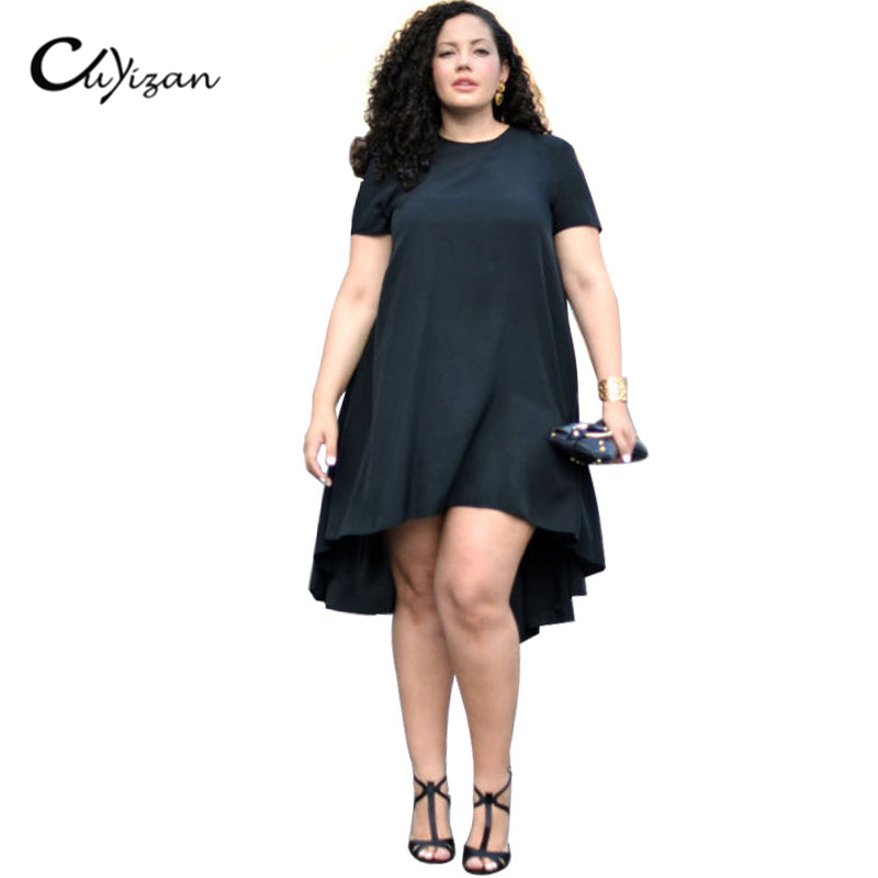 CUYIZAN summer big size fashion dress 2017 plus size women ...