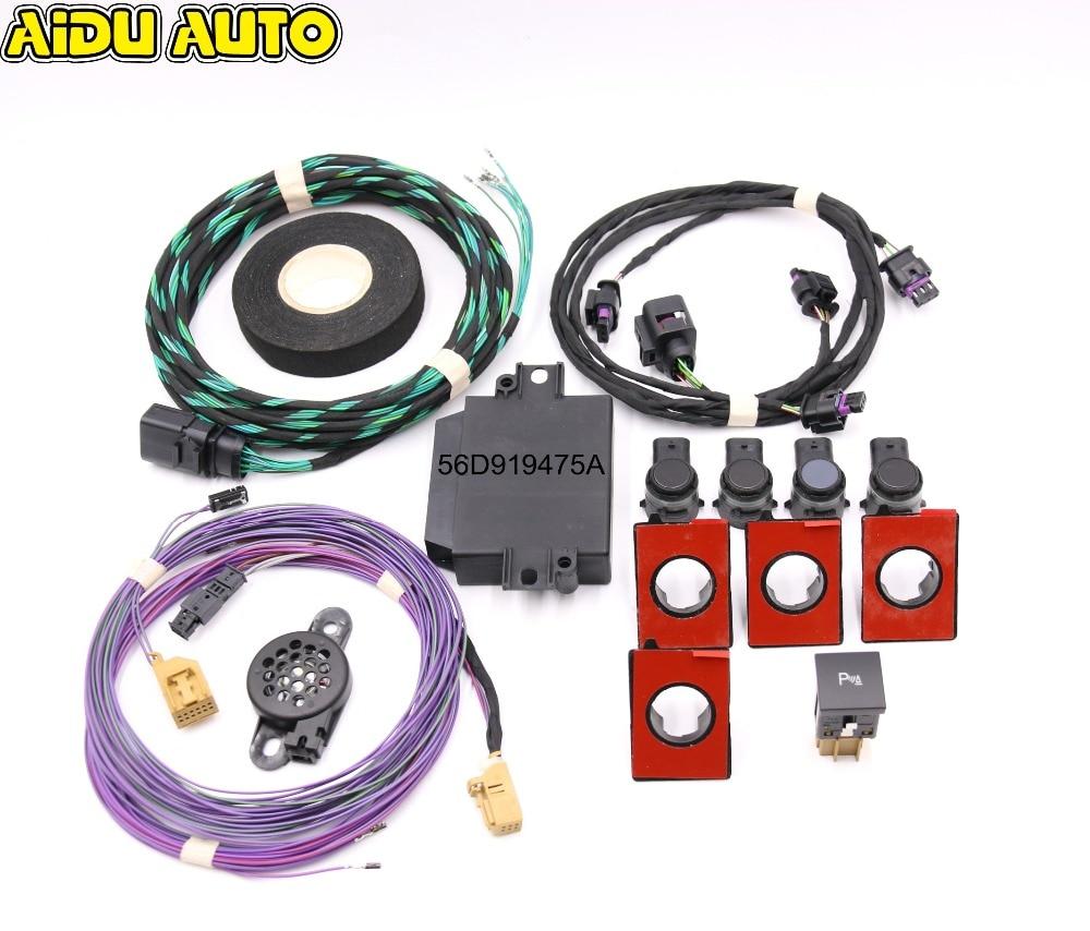 Avant Parc Pilote 4 K À 8 K Parking Capteurs OPS Kit Pour VW Jetta MK5 MK6 Golf 5/6 Touran
