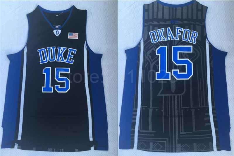 d9e273dc06e0 cheapest aliexpress buy ediwallen college basketball 15 jahlil okafor duke  blue devils jerseys man team black