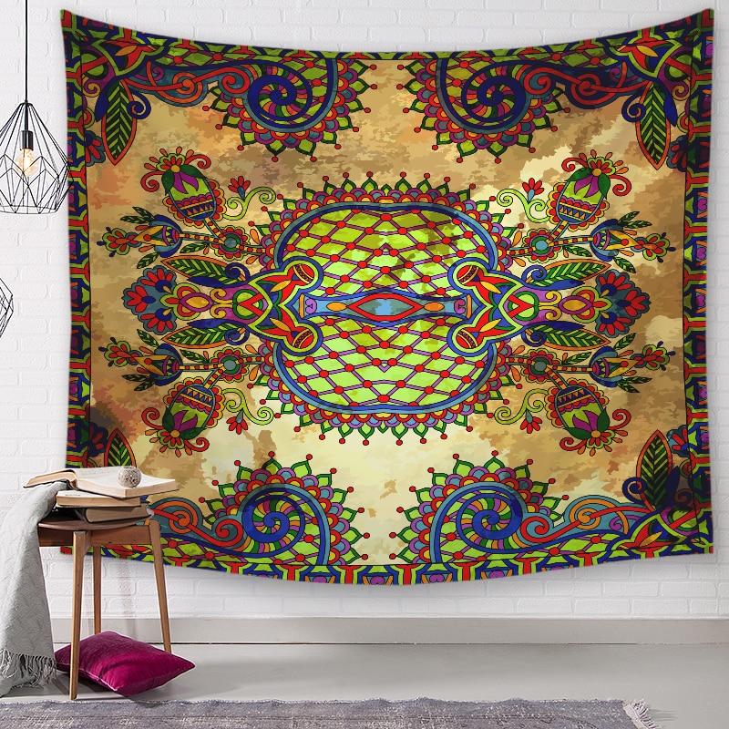 ★  3 Размер мандалы Настенный ГеометрияГобелен Зеленый Суккуленты 3D Цветочное Искусство Ковровое Одеял ★