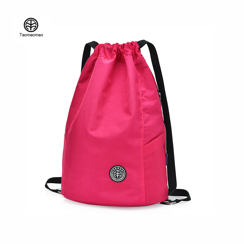 TaoMaoMao Women Drawstring Backpack Nylon Water repellent backpack Beach Bag Simple Style Solid color Travel Satchel School BagTaoMaoMao Women Drawstring Backpack Nylon Water repellent backpack Beach Bag Simple Style Solid color Travel Satchel School Bag