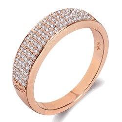 Lüks karo avusturyalı kristal 2 renk yapay elmas yüzük kadın 925 Anillos kadınlar için gümüş takı Anel alyans