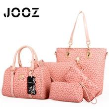 JOOZ Brand Luxury Bone Pattern Lady Handbags 5 Pcs Composite Bags Set Women Shoulder Crossbody Bag Purse+Wallet+Clutch+Card Bag