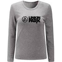 2017 Autumn Spring T Shirt Women Linkin Park Heavy Metal Rock Band Girls T Shirt Fitness