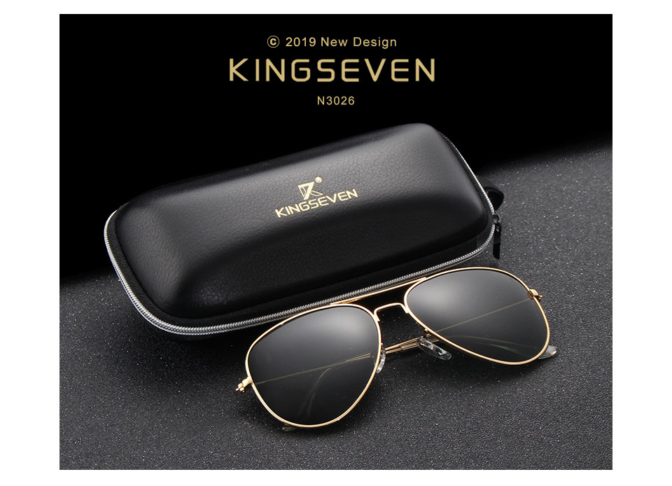 58mm Retro Classic Sunglasses Polarized Women KINGSEVEN Brand Female Sun glasses For Women 2019 Fashion Oculos Designer Shades