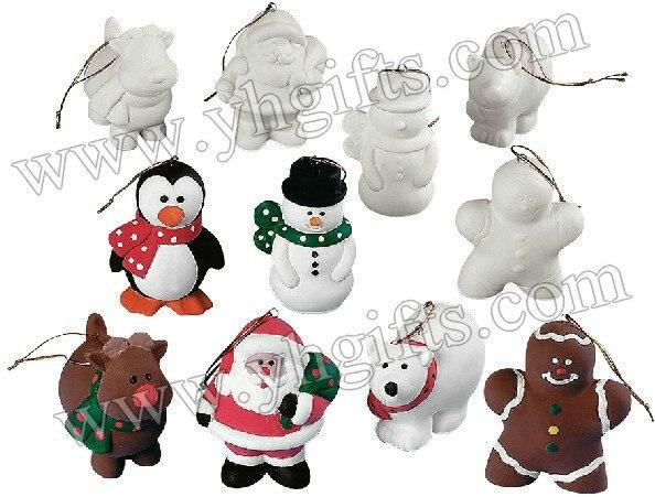 12 шт./партия. расписанную Незаконченный Рождество украшения вешалки, рождественской елки, xmas ремесел. рождество игрушки, 6 Дизайн, 8 см.