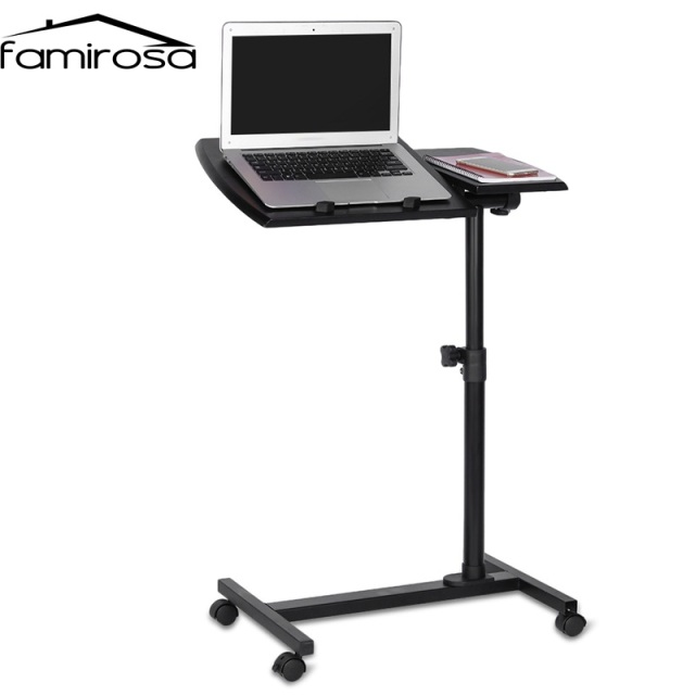 KQ YD03 Laptop Rolling Cart Desk Adjustable Height Sofa