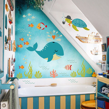 PVC bed room wall sticker for kids roomshome decoration accessories fashion wall sticker mural kids room wall paper QTM305-4