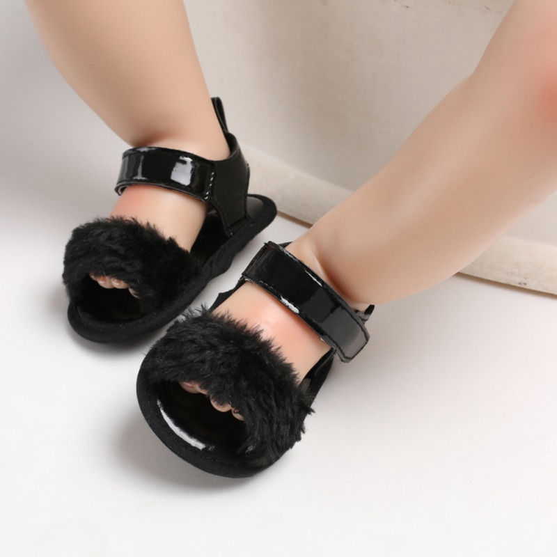 Hot Sale Lovely Beach Sandals For Girls Baby Shoes PU Summer Soft Bottom Non-Slip Newborn Pre-walking Shoes 2019 New-arrival
