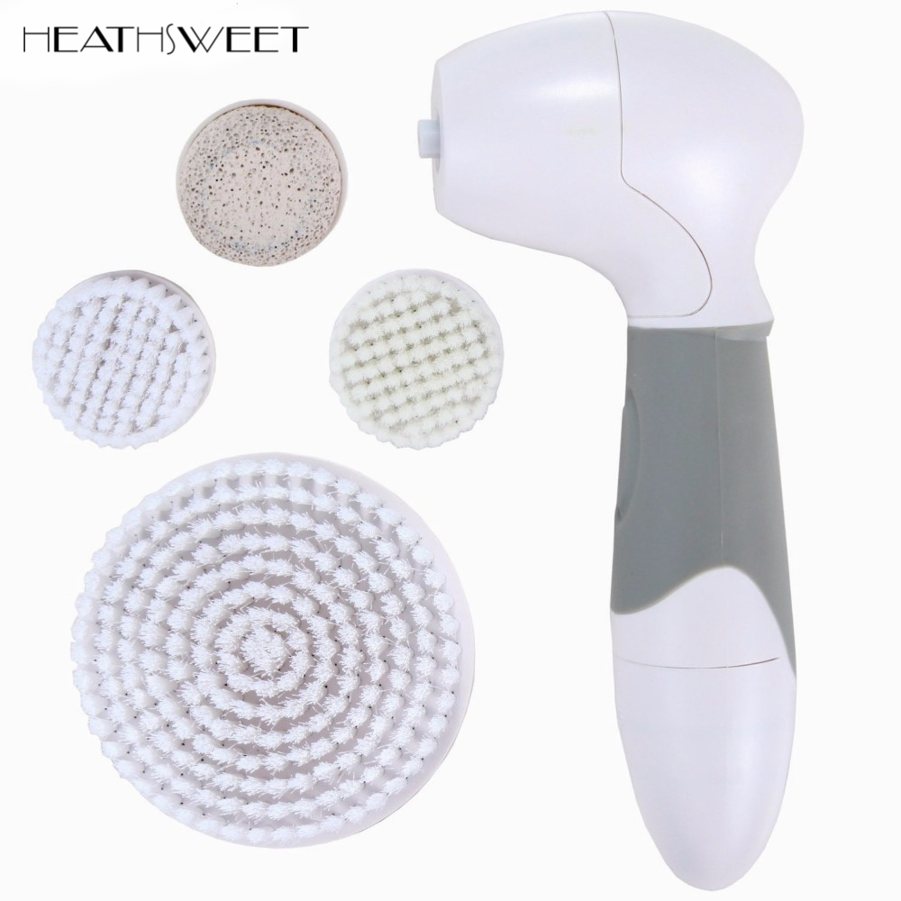 Healthsweet Cleaning Cleaner Vibrate Waterproof Electric Facial Cleansing Brush Face Cleanser Massager Skin Care Wash Machine 4 in 1 electric facial cleanser deep cleansing skin care blackhead removal washing brush massager face body exfoliator scrub