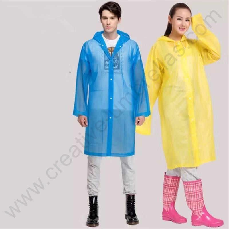 3 Pcs/set Warna Pilihan Melindungi Lingkungan Non Pakai EVA Jas Hujan Tahan Air Unisex Super Tipis Tidak Beracun Hujan Memakai