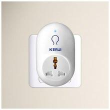 KERUI-enchufe de viaje inteligente con sistema de alarma antirrobo, toma de corriente estándar UE, EE. UU., Reino Unido, AU, KERUI