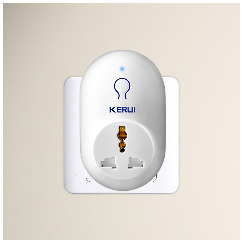 KERUI S71 EU US UK AU Standard Power Socket Smart Switch Travel Plug Socket Work With KERUI Security Burglar Alarm System wireless smart socket power control appliance control switch compatible with home security 868mhz x6 alarm system eu uk us plug